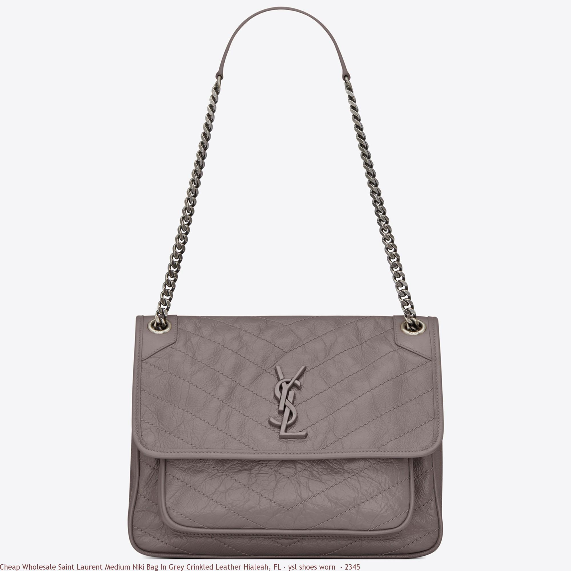 Cheap Wholesale Saint Laurent Medium Niki Bag In Grey