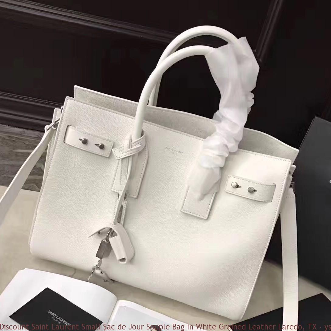 b2412264ff Discount Saint Laurent Small Sac de Jour Souple Bag In White Grained ...
