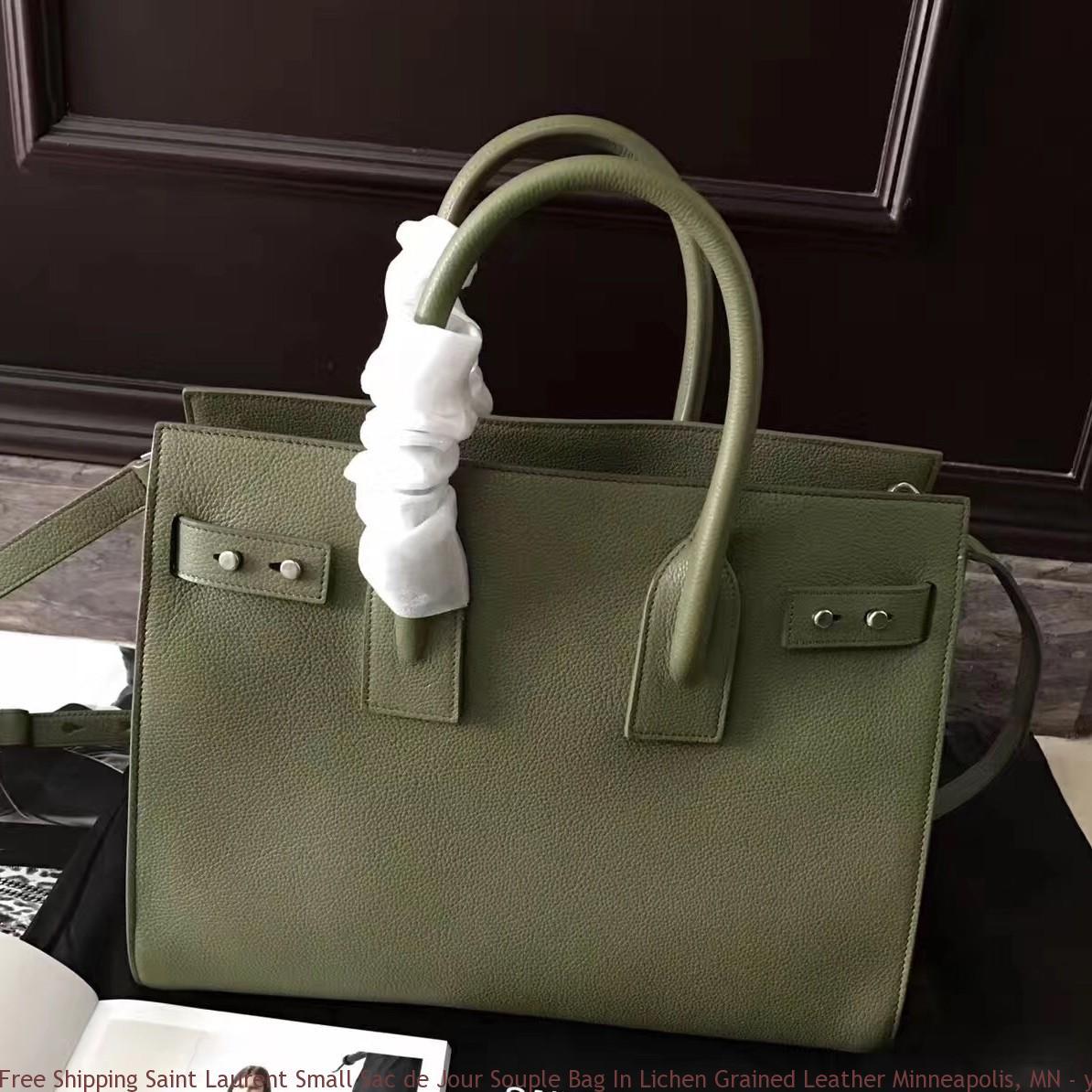 402a42c6e2b Free Shipping Saint Laurent Small Sac de Jour Souple Bag In Lichen Grained  Leather ...