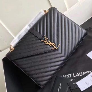 Imitation Saint Laurent Large Monogramme Envelope Black Shoulder Bag Akron 7d9f31e59a673