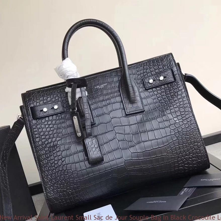 new styles latest collection offer discounts New Arrival Saint Laurent Small Sac de Jour Souple Bag In Black Crocodile  Leather Mesa, AZ - saint laurent quilted envelope bag - 1522