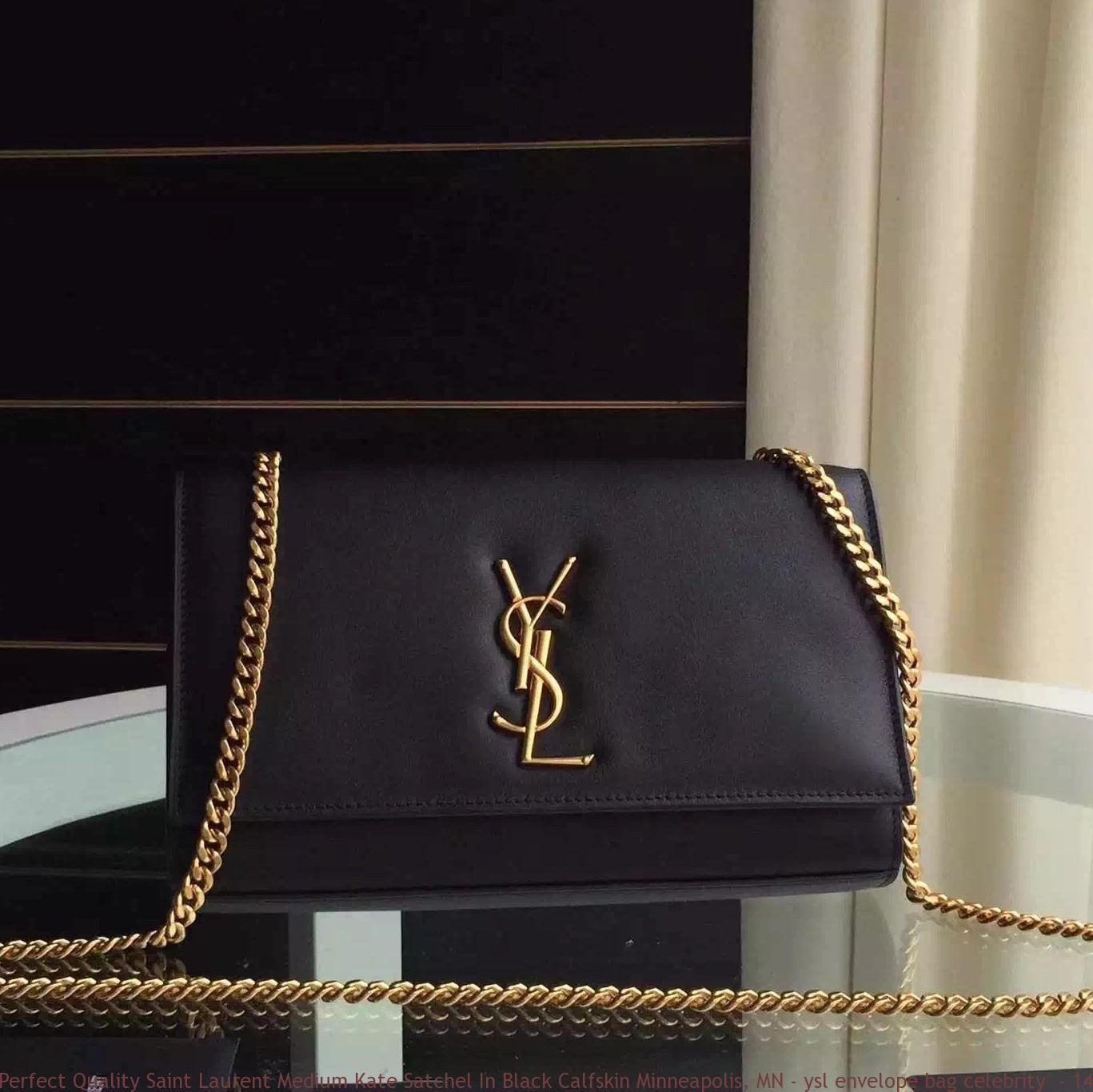 Perfect Quality Saint Laurent Medium Kate Satchel In Black