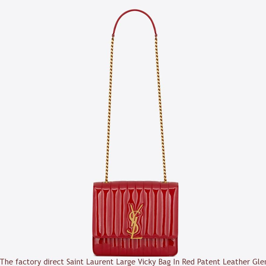 17b15733ac03 The factory direct Saint Laurent Large Vicky Bag In Red Patent ...