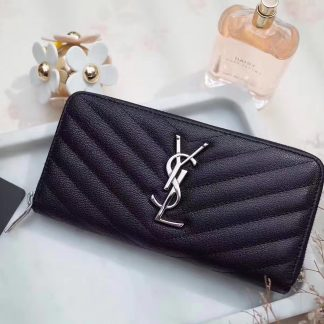 4f152114eb53 You re viewing  UK Saint Laurent Zip Around Wallet In Black Goatskin  Dallas